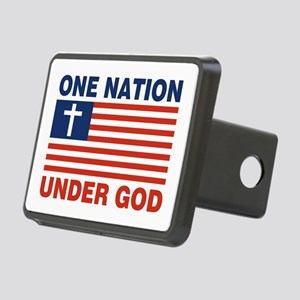 One Nation Under GOD Rectangular Hitch Coverle)